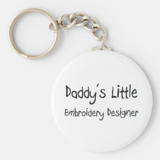 Daddy's Little Embroidery Designer Keychain