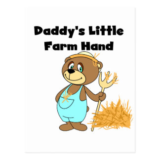 Daddy's Little Farm Hand Tshirts and Gifts Postcard