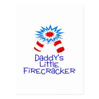 Daddys Little Fiecracker Postcard