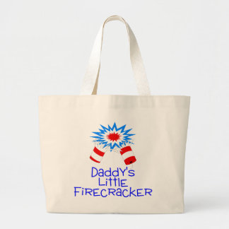 Daddys Little Firecracker Tote Bag