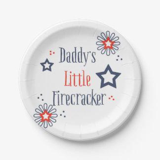 Daddy's Little Firecracker Paper Plate