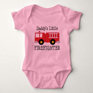 Daddys Little Firefighter Baby Bodysuit