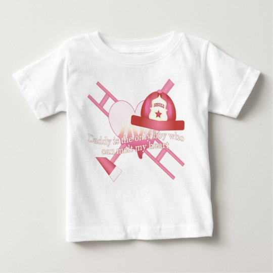 Daddy's Little Firefighter Baby T-Shirt