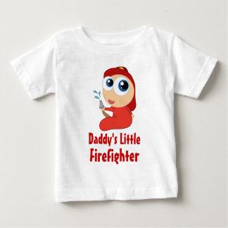 Daddys Little Firefighter Baby T-shirt