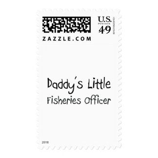 Daddy's Little Fisheries Officer Postage Stamp