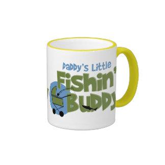 Daddy's Little Fishin' Buddy Ringer Coffee Mug