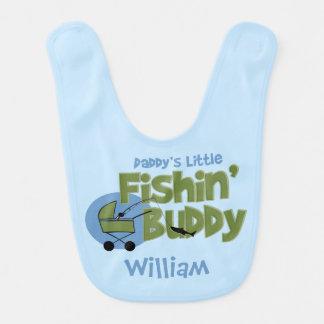 Daddy's Little Fishin' Buddy Baby Bib