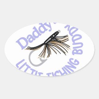 Daddy's Little Fishing Buddy Oval Sticker