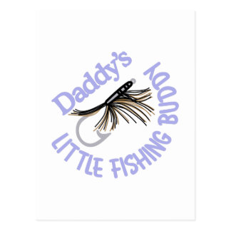 Daddy's Little Fishing Buddy Postcard