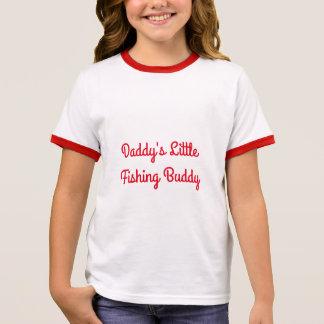Daddy's Little Fishing Buddy Ringer T-Shirt