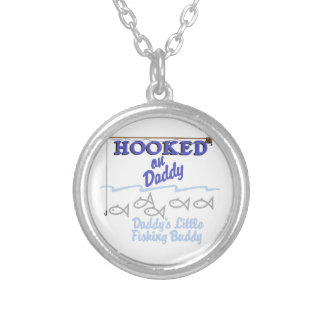Daddys Little Fishing Buddy Silver Plated Necklace
