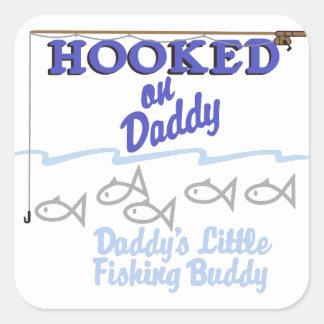 Daddys Little Fishing Buddy Square Sticker