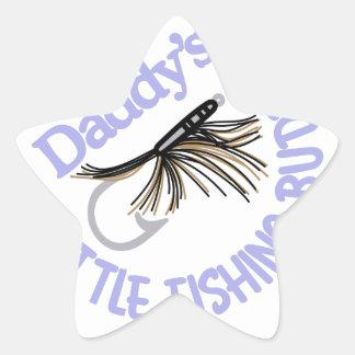Daddy's Little Fishing Buddy Star Sticker