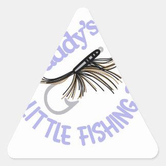 Daddy's Little Fishing Buddy Triangle Sticker