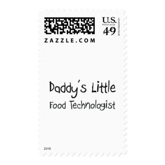 Daddy's Little Food Technologist Postage Stamp
