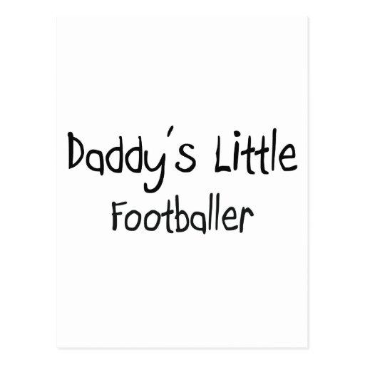 Daddy's Little Footballer Postcard