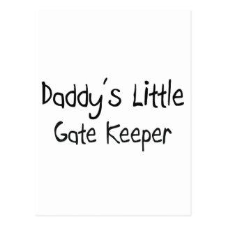 Daddy's Little Gate Keeper Postcard