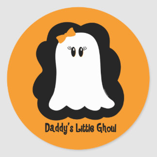 Daddy's Little Ghoul Classic Round Sticker