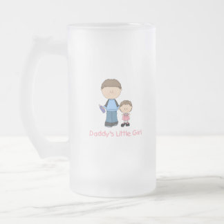 Daddy's Little Girl (2) Frosted Glass Beer Mug