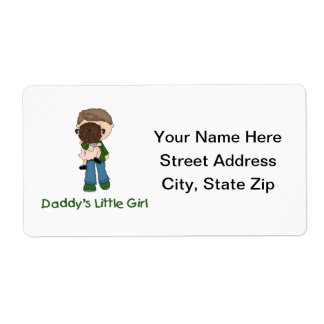 Daddy's Little Girl (3) Personalized Shipping Label