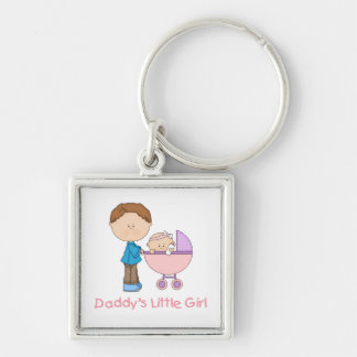 Daddy's Little Girl (4) Keychain
