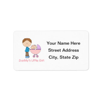 Daddy's Little Girl (4) Custom Address Labels