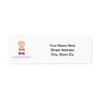 Daddy's Little Girl (5) Return Address Labels