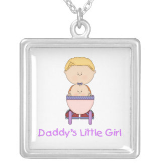 Daddy's Little Girl (5) Square Pendant Necklace