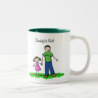 Daddy's Little Girl Brunette Mug (Customize)