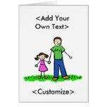 Daddy's Little Girl Card (Brunette)