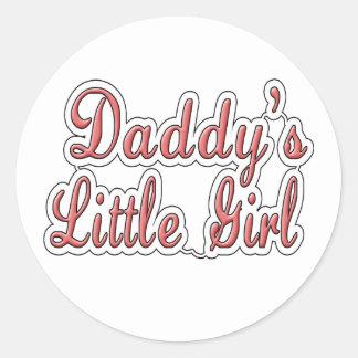 Daddy's Little Girl Classic Round Sticker
