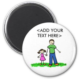 Daddy's Little Girl Custom Magnet (Brunette)