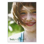 Daddy's little girl greeting card
