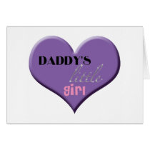 Daddy's Little Girl - Happy Father's Day Card