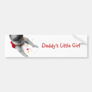Daddys Little Girl I Love You Dad I Heart U Car Bumper Sticker