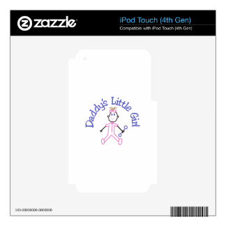 Daddys Little Girl iPod Touch 4G Decals