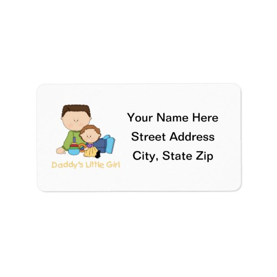 Daddy's Little Girl Label