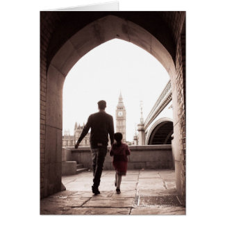 Daddy's Little Girl - London - Big Ben Card Greeting Card
