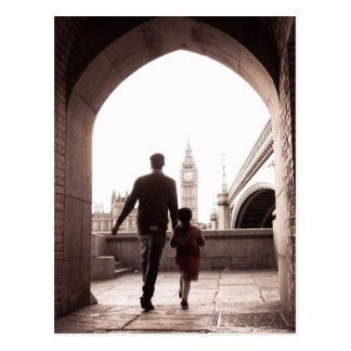 Daddy's Little Girl - London - Big Ben Postcard