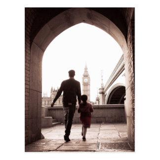 Daddy's Little Girl - London - Big Ben Postcard