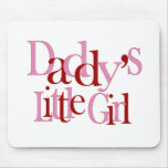 Daddy's little girl mouse mats