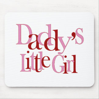 Daddy's little girl mouse pad