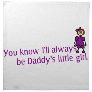 Daddys Little Girl Napkin