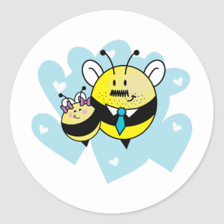 Daddy's little girl / Petite fille à papa. Classic Round Sticker