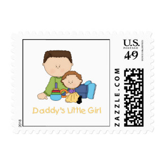 Daddy's Little Girl Postage Stamps