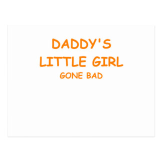 daddy's little girl postcards