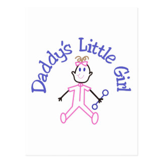 Daddys Little Girl Postcard