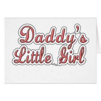 Daddy's Little Girl Text  Card