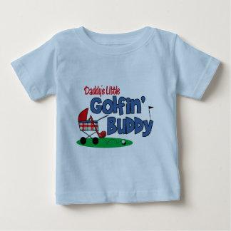 Daddy's Little Golfin' Buddy Baby T-Shirt