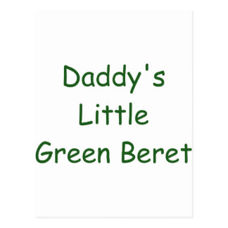 Daddy's Little Green Beret Postcard